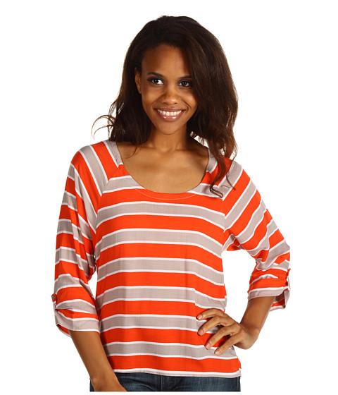Bluze Splendid - Chesapeake Dolman Top - Almond/Paprika