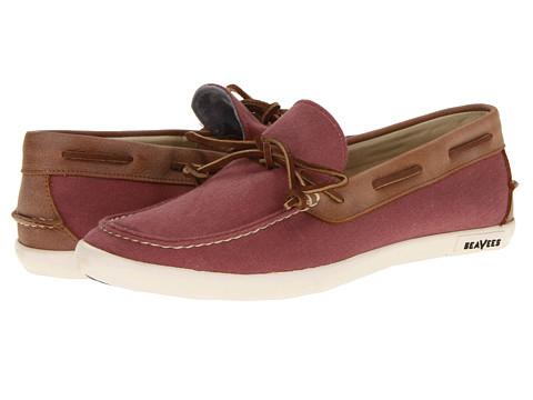 Pantofi SeaVees - 03/66 Sloop Moc - Mineral Red Twill/Sierra Tan Leather