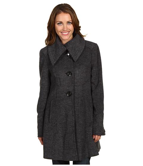 Jachete Ivanka Trump - Herringbone Wool Coat - Black/Grey
