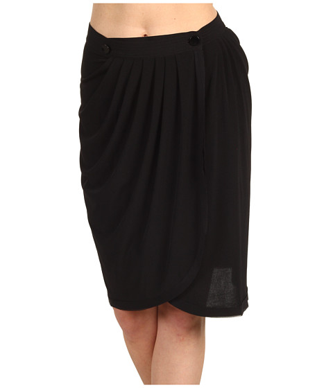 Fuste Z Spoke ZAC POSEN - Silk Jersey Skirt - Black