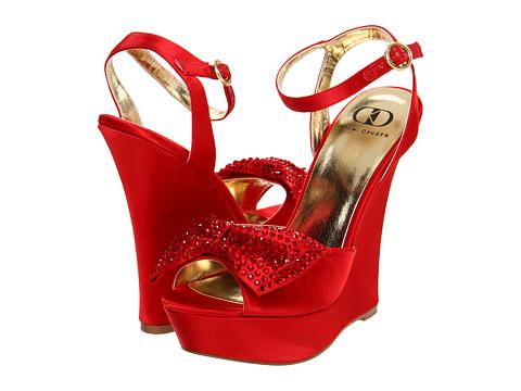 Pantofi Kelsi Dagger - Cadya - Red Satin Suede