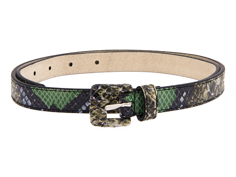 Curele Lodis Accessories - Covered Buckle Pant Belt - Olive