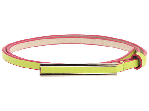 Curele Lodis Accessories - Exaggerated Buckle Pant Belt - Lime Flamingo
