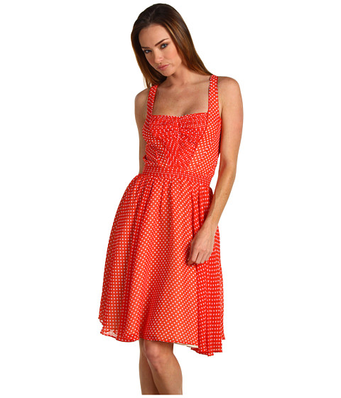Rochii Z Spoke ZAC POSEN - Pintuck Corset Dress - Red