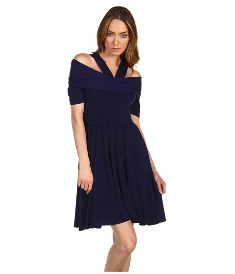 Rochii Z Spoke ZAC POSEN - Silk Jersey Halter Dress - Navy