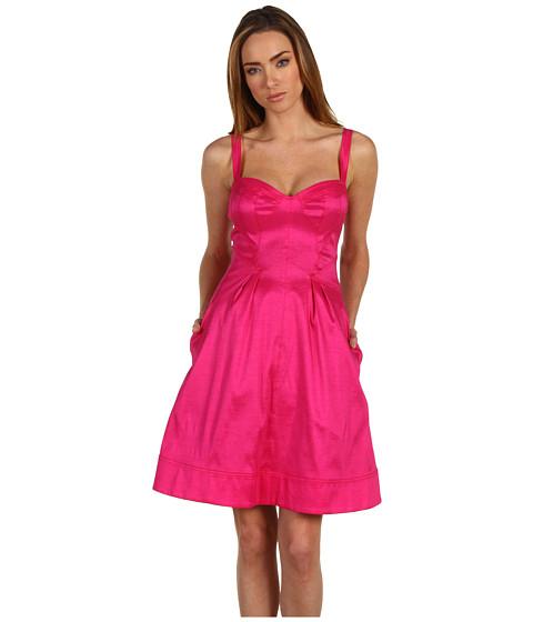 Rochii Z Spoke ZAC POSEN - Str Taffeta S/L Dress - Fuchsia