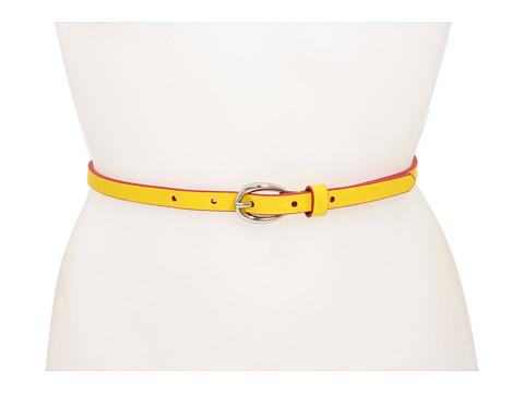 Curele Lodis Accessories - Oval Wave Buckle Pant Belt - Canary