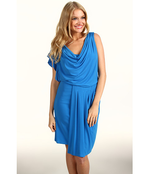 Rochii Vince Camuto - Asymmetrical Flutter Sleeve Dress VC2A1483 - Directoire Blue