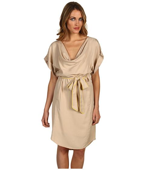 Rochii Vince Camuto - Drape Neck Belted Dress VC2D1141 - Khaki