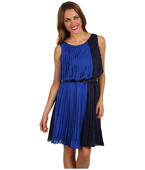 Rochii Vince Camuto - Sleeveless Colorblock Dress VC2A1048 - Blue