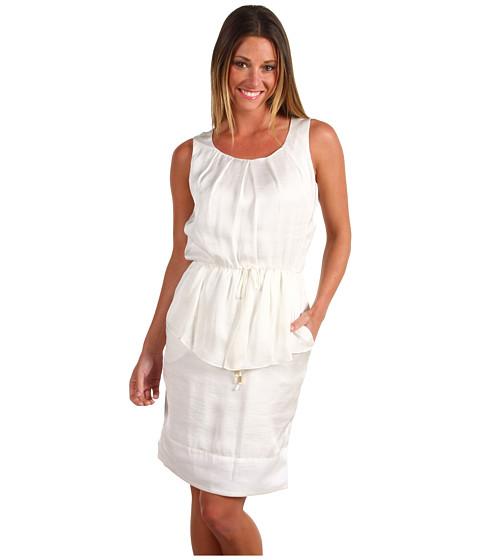 Rochii Vince Camuto - Sleeveless Pepulm Dress VC2X1095 - White