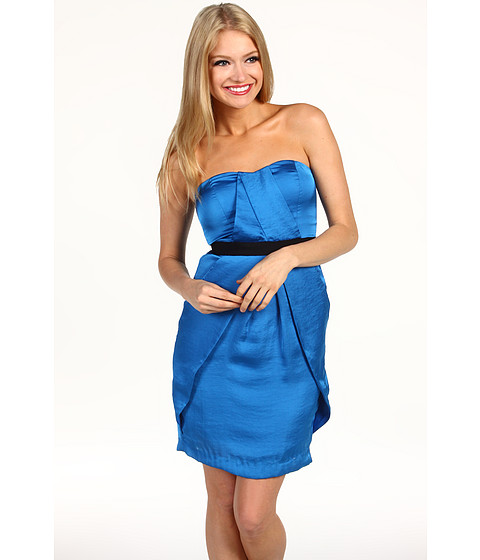 Rochii Vince Camuto - Strapless Pleat Front Dress - Blue