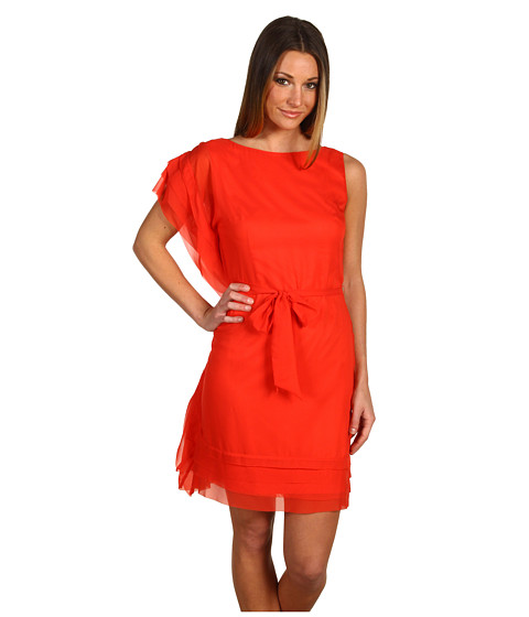 Rochii Vince Camuto - Tiered Cascade Dress VC2A1178 - Red Pepper