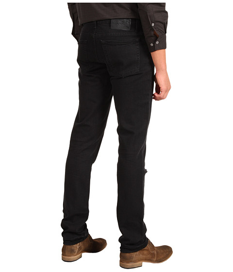 Blugi John Varvatos - Slim Low Rise Black Wash Jean - Black