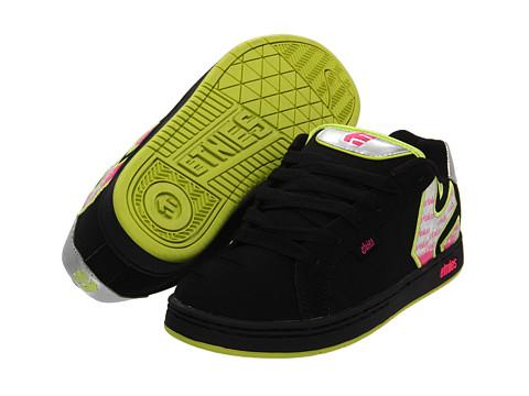 Adidasi etnies - Fader W - Black/Green/Black (Action Nubuck)