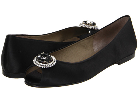 Balerini French Sole - Glaring Satin Shoe - Black