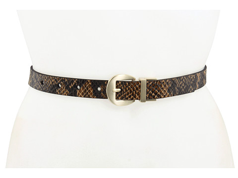 "Curele Jessica Simpson - 7/8"" Reversible Belt Snake - Brown"