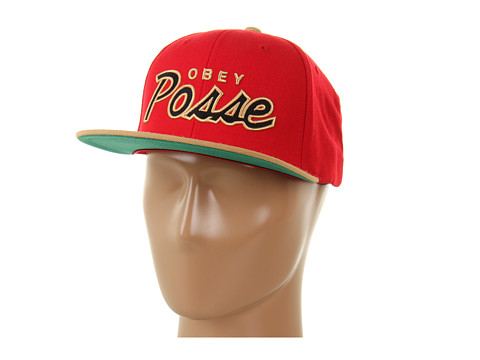 Sepci Obey - Obey Posse Snap Back Cap - Red/Tan