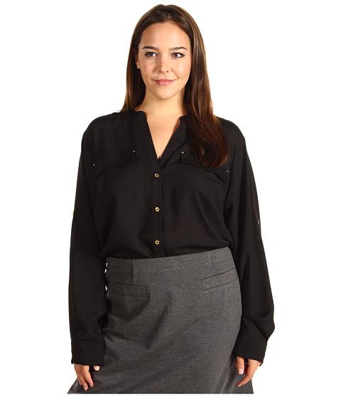 Tricouri Calvin Klein - Plus Size Crew Neck Roll Sleeve - Black