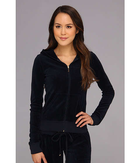 Bluze Juicy Couture - Original Velour L/S Hoodie - Regal