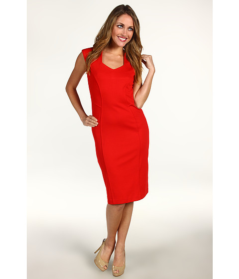 Rochii Anne Klein - Sleeveless Dress w/ Princess Seams - Poppy Red