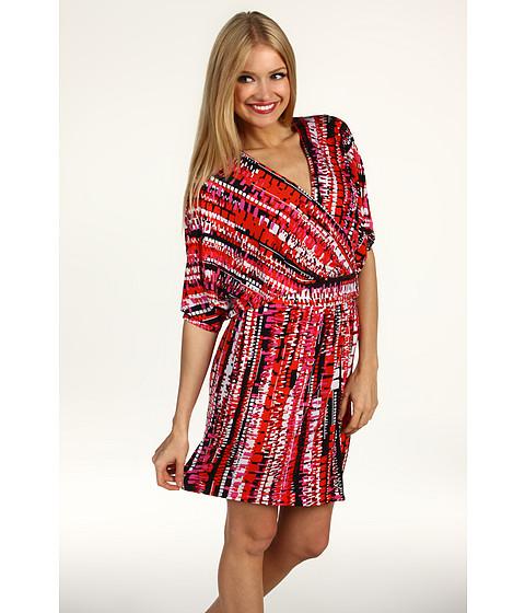 Rochii Laundry by Shelli Segal - Dolman Sleeve Printed Matte Jersey Dress - Black Multi