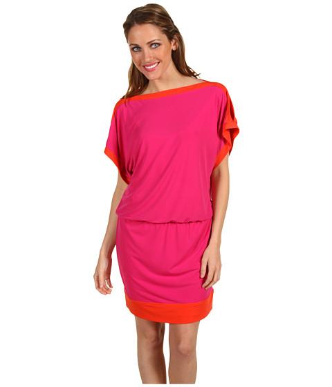 Rochii Laundry by Shelli Segal - Split Sleeve Color Block Dress - Bougainvillia