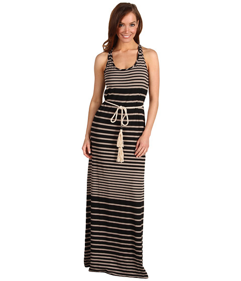 Rochii Michael Stars - Addison Stripe Maxi Dress - Taupe