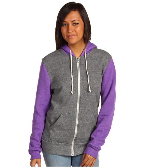 Bluze Alternative Apparel - Butler Colorblock Hoodie - Eco Grey/Eco True Purple