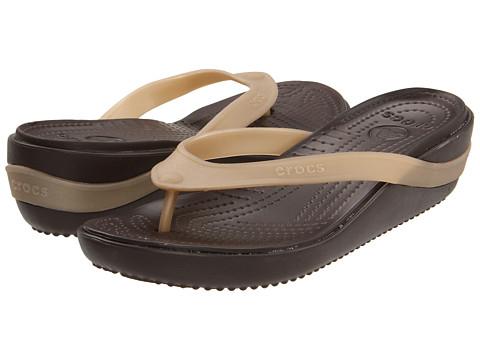Sandale Crocs - Carlie Platform Flip - Espresso/Gold