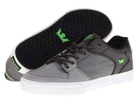 Adidasi Supra - Vaider Low - Grey Rip-Stop Canvas/Neon Green