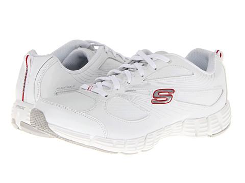 Adidasi SKECHERS - Whirl - White/Red
