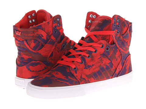 Adidasi Supra - Skytop - Party Camo Red/Grape/White