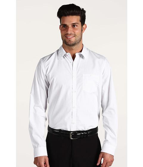 Tricouri Calvin Klein - L/S Fine Stripe Poplin - White