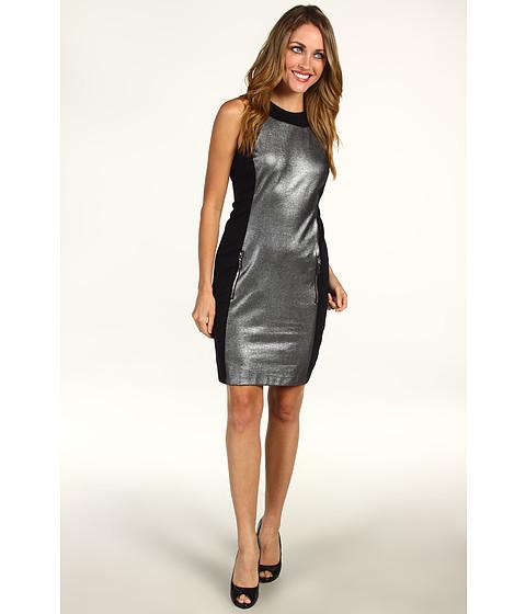 Rochii Michael Kors - Foil Printed Ponte Sleeveless Dress - Silver