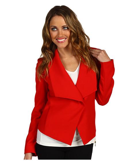 Jachete Anne Klein - Drape Front Jacket - Poppy Red