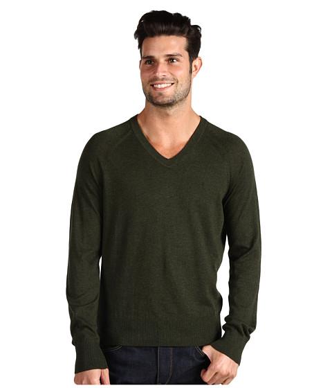 Pulovere Original Penguin - Kris V-Neck Sweater - Military Green Heather