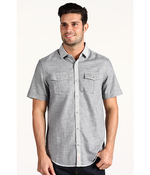 Camasi Original Penguin - Rumstown S/S Woven Shirt - Estate Blue
