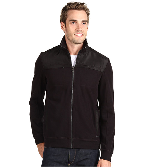 Jachete Calvin Klein - French Rib L/S Full Zip Jacket - Black