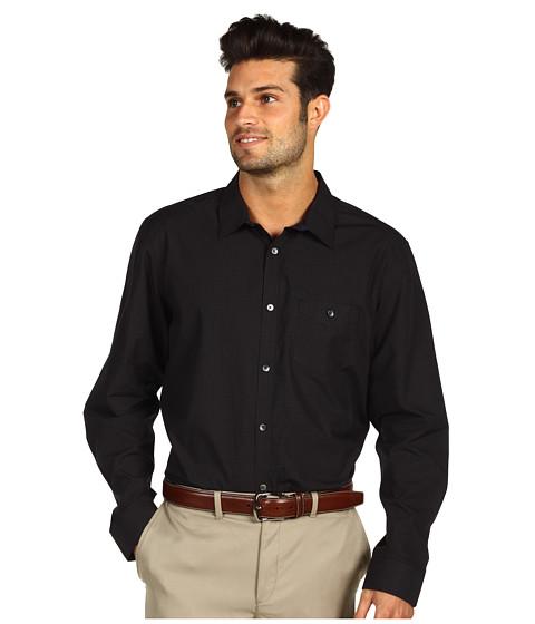 Tricouri Calvin Klein - Yarn-Dyed Mini Check L/S Shirt - Black