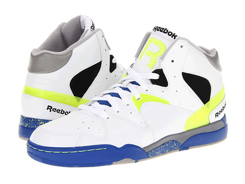 Adidasi Reebok - Classic Jam - White/Reebok Royal/Neon Yellow