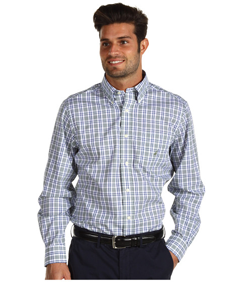 Camasi Nautica - Wrinkle Resistant Multi Plaid Shirt - Dark Green