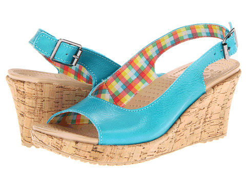 Sandale Crocs - A-Leigh Wedge Leather - Surf