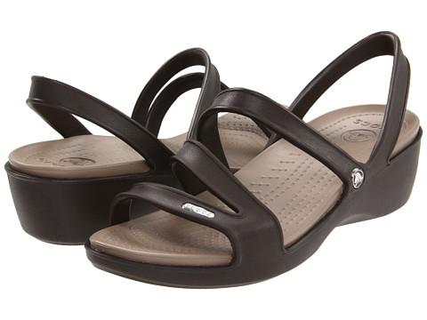 Sandale Crocs - Patricia Wedge Sandal - Espresso/Mushroom