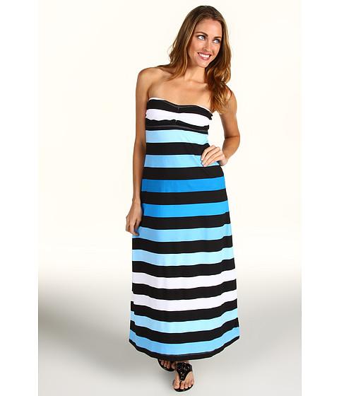 Rochii Tommy Bahama - Bermuda\s Lost Stripes Bandeau Tea Length Dress - Peacock Blue Multi