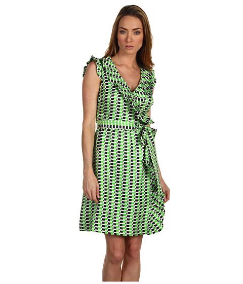 Rochii Kate Spade New York - Aubrey Wrap Dress - Sprout/Midnight