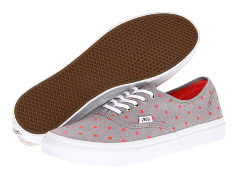 Adidasi Vans - Authenticâ⢠Slim - (Chambray Dots) Gray/Hot Coral