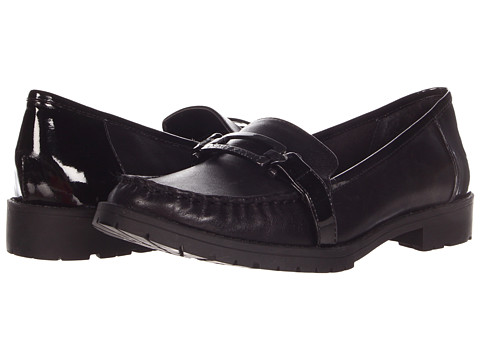 Balerini Anne Klein - Leeandra - Black Leather/Patent Trim