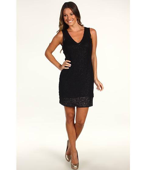 Rochii Badgley Mischka - V-Neck Dress - Black/Black