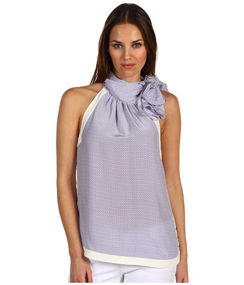 Bluze Juicy Couture - Silk Neck Tie Top - Lazuli Mini Block Geo